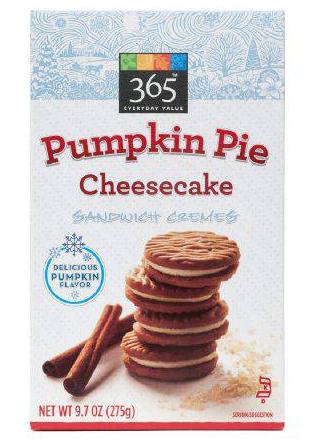 Pumpkin Pie Cheesecake Sandwich Cremes