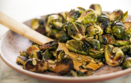 Maple-Roasted Brussels Sprouts