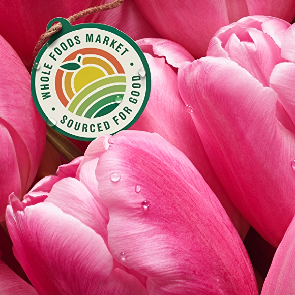 pink tulips with sourced for good seal