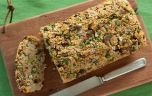 Quinoa Loaf with Mushrooms and Peas