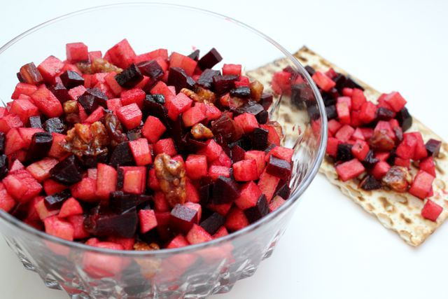 Apple Beet Charoset   Used with Permission: What Jew Wanna Eat