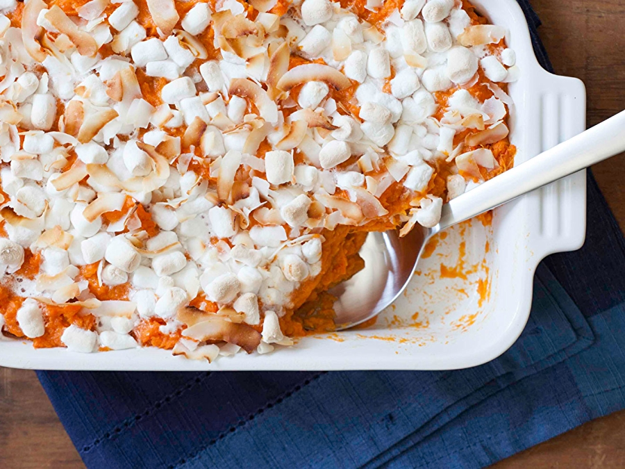 Recipe: Coconut-Marshmallow Spiced Sweet Potatoes