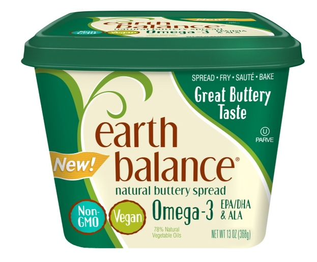 Earth Balance Soy Free Buttery Sticks and Natural Buttery Spread