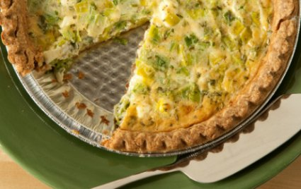 Goat Cheese and Leek Quiche