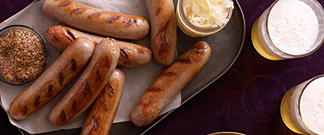 Oktoberfest Beer, Brats and Sauerkraut