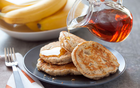 Whole Grain Pancakes with Chia and Flaxseeds