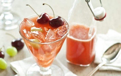 Wine & Tea Punch with Summer Fruit