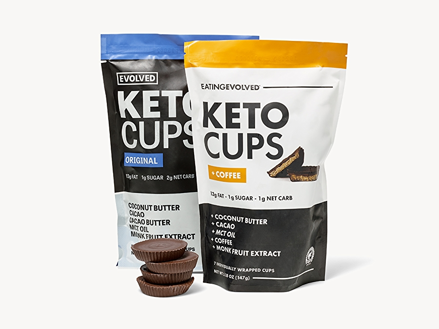 Packages of keto cups