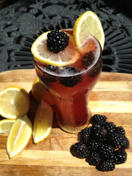 Blackberry Lemonade Shandy