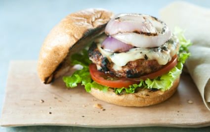 Grilled Turkey Burgers with Gouda
