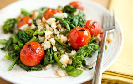Grilled Tomato and Broccoli Rabe Salad
