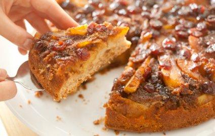 Fall Fruit Upside-Down Cake