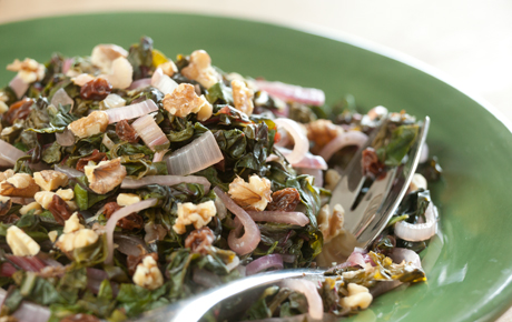 Chard with Sherry Vinegar with Walnuts