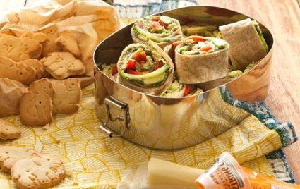 Spinach Hummus Pinwheel Wraps