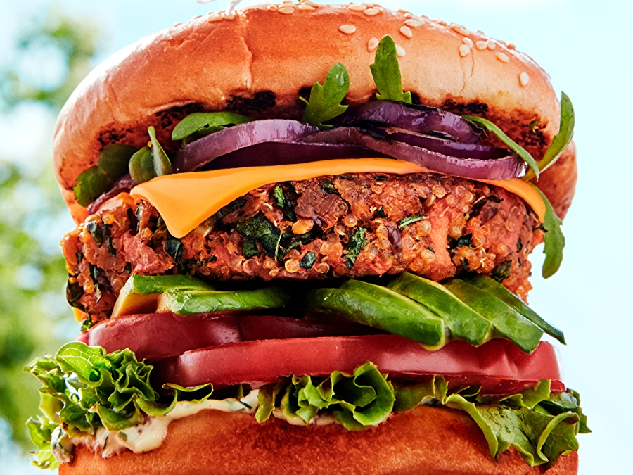Plant Based Burger with Green Goddess Dressing recipe