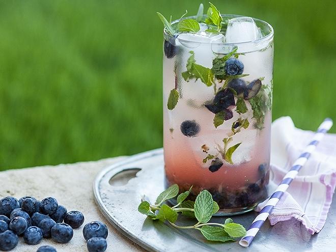 Blueberry-Herb Lemonade Punch recipe