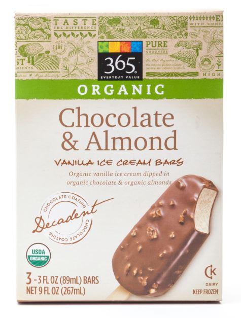365 Everyday Value® Organic Chocolate & Almond Vanilla Ice Cream Bar
