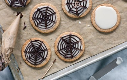 Spider Web Sugar Cookies