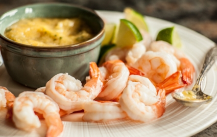 Shrimp with Pineapple-Ginger Dipping Sauce