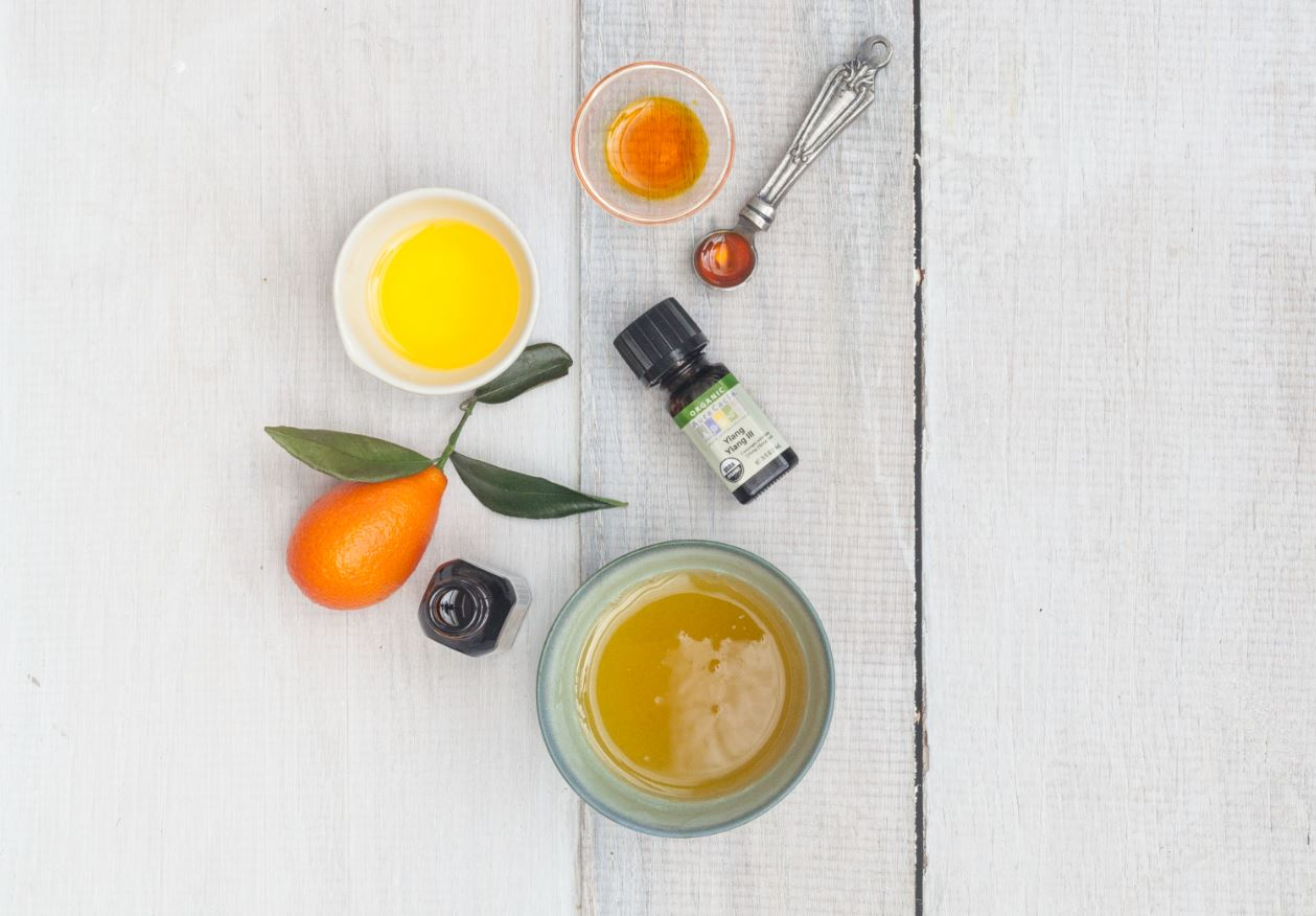 Ingredients for DIY Cocoa-Citrus Body Butter