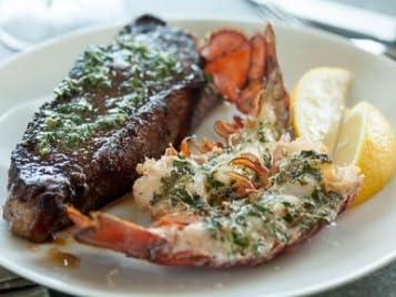 Herb-Roasted Lobster and Steak