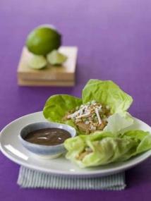 Lettuce Wraps with Chile Peanut Noodles