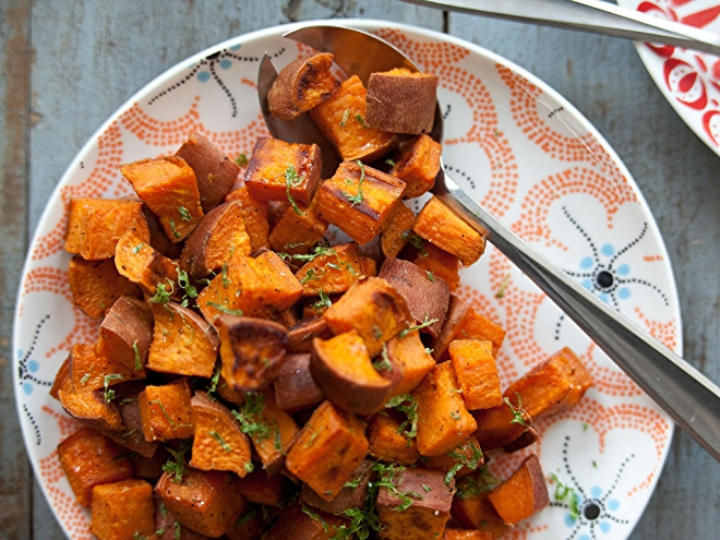 Coconut Roasted Sweet Potatoes