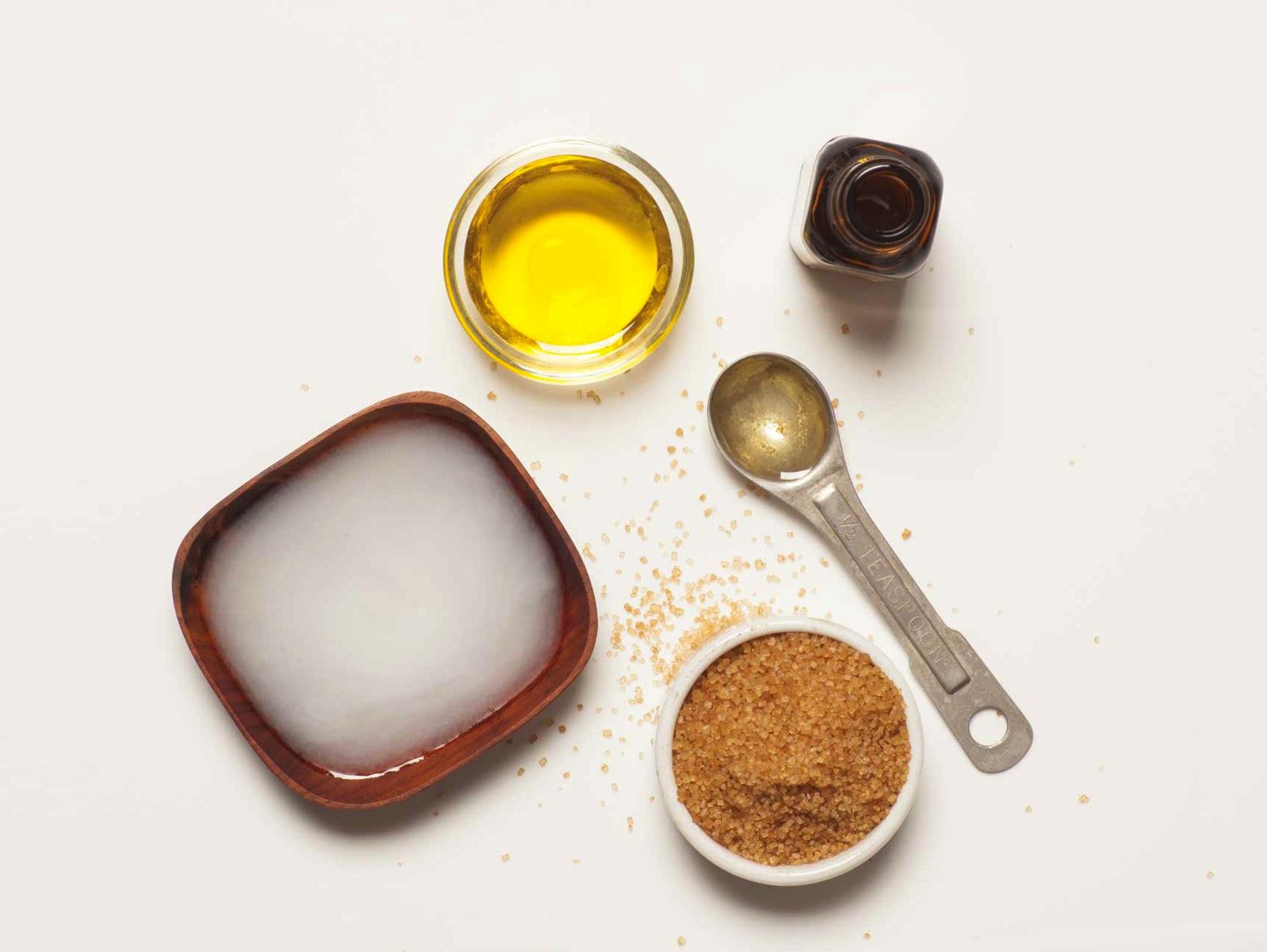 Ingredients for DIY Hand Scrub