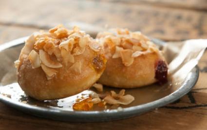 Jam-Filled Coconut Donuts