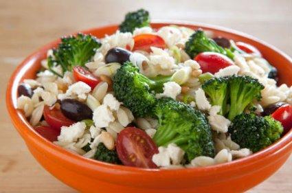 orzo salad  with biodynamic orzo