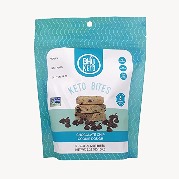 BHU Keto Bites in package, chocolate chip cookie dough flavor