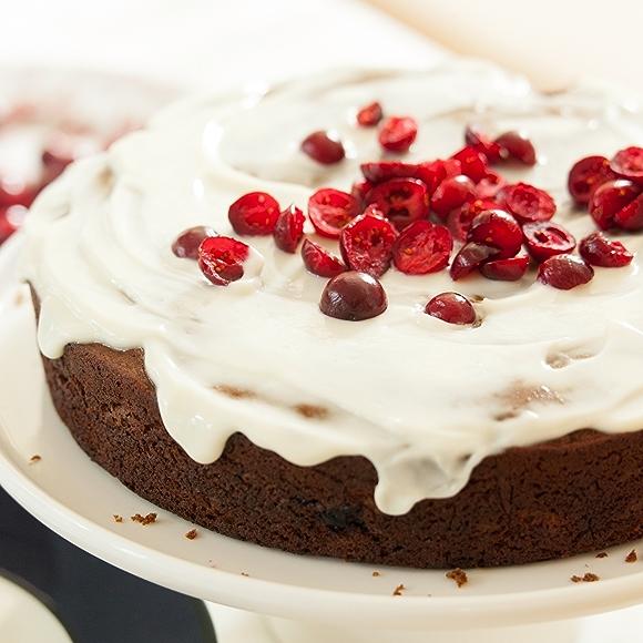 Cranberry Molasses Cake