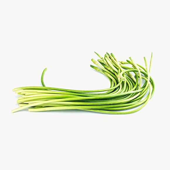 green garlic scapes