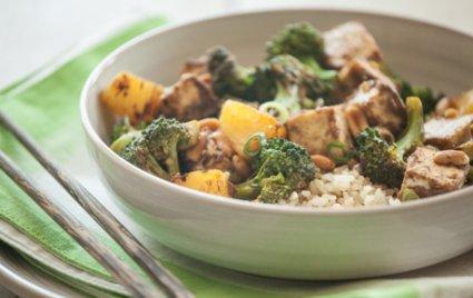 Kung Pao Broccoli and Tofu with Pineapple