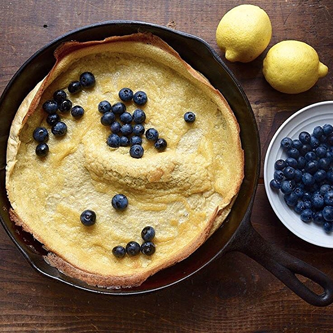 Lemon & Blueberry Dutch Baby Pancake