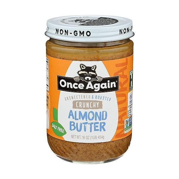 Crunchy Almond Butter Unsweetened & Salt Free 1