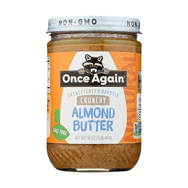 Crunchy Almond Butter Unsweetened & Salt Free 3