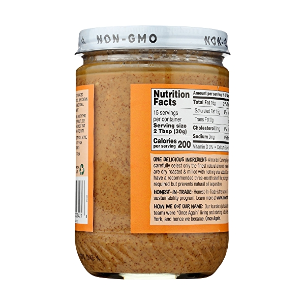 Crunchy Almond Butter Unsweetened & Salt Free 4