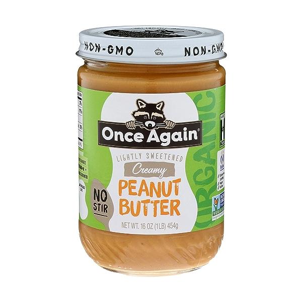 Creamy No-stir Peanut Butter Lightly Sweetened 1