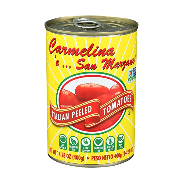 Italian Whole Peeled Tomatoes in Puree San Marzano, Sweet, Low Acid, 14.28 ounce 1