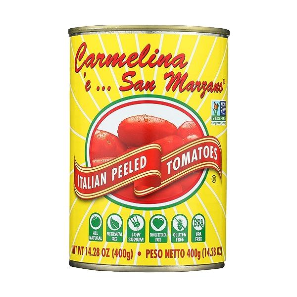 Italian Whole Peeled Tomatoes in Puree San Marzano, Sweet, Low Acid, 14.28 ounce 4