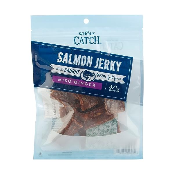 Miso Ginger Wild Caught Salmon Jerky, 3 oz 1