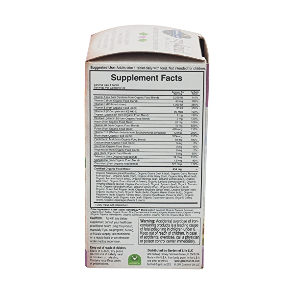 Organic Mykind Women's Once Daily Multi, 36 tablets 3