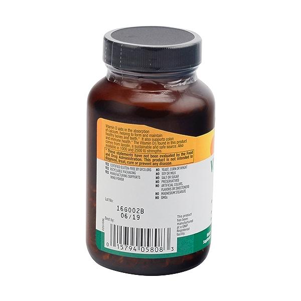 Vitamin D3 Softgels, 5000 Iu, 200 softgels 2