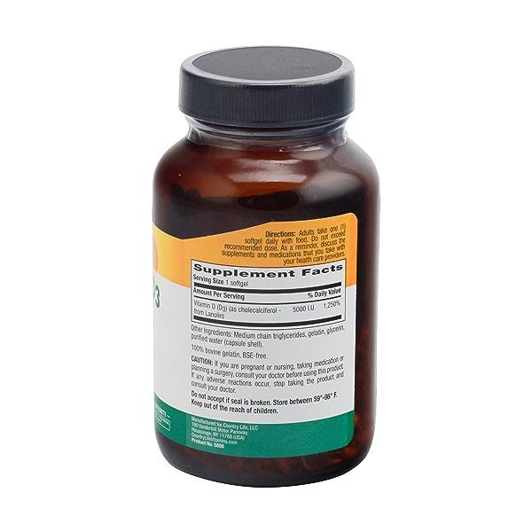 Vitamin D3 Softgels, 5000 Iu, 200 softgels 3