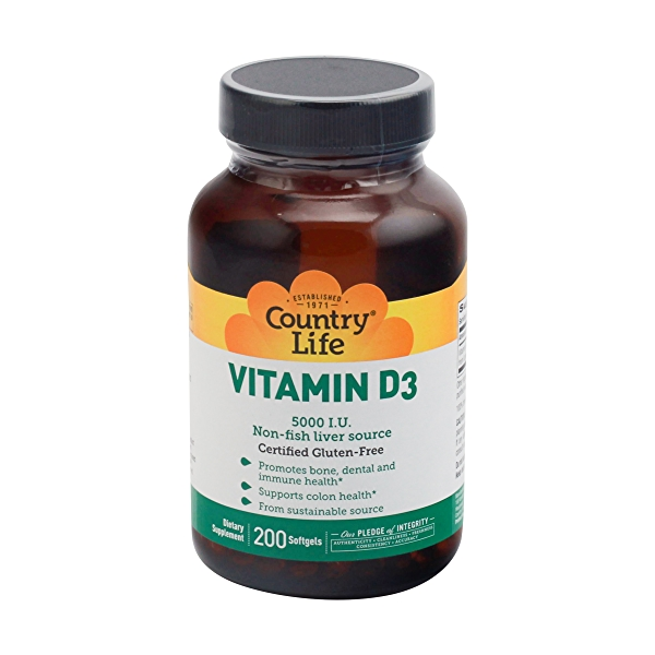Vitamin D3 Softgels, 5000 Iu, 200 softgels 1
