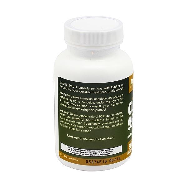 Curcumin Vegetarian Capsules, 500 mg, 120 caps 3