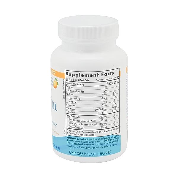 Arctic Cod Liver Oil Lemon, 90 soft gels 3