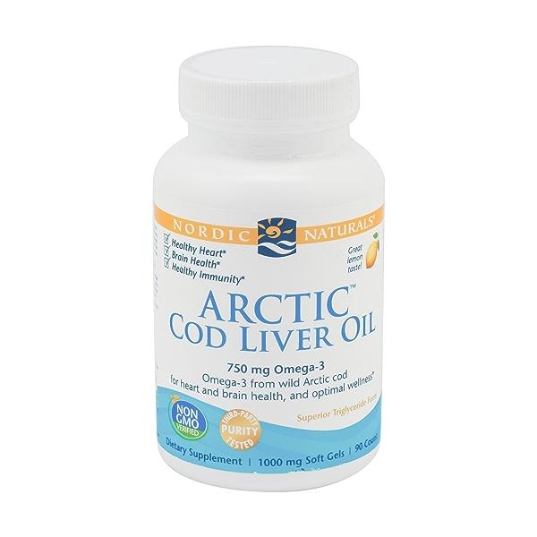 Arctic Cod Liver Oil Lemon, 90 soft gels 1