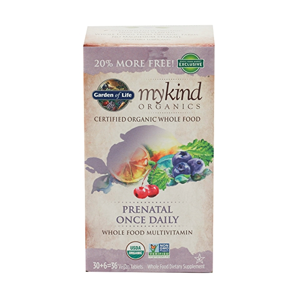 Organic Mykind Prenatal Once Daily, 36 tablets 1